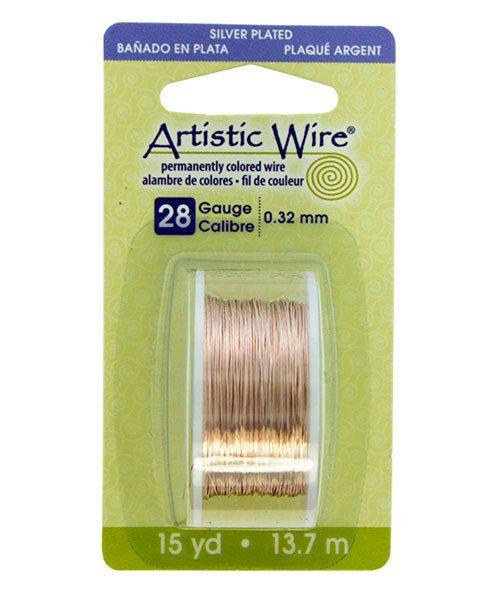 WR22128 = Artistic Wire Dispenser Pack SP ROSE GOLD 28ga 15 Yards