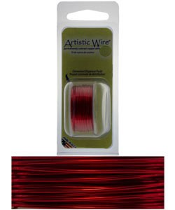 WR22020 = Artistic Wire Dispenser Pack RED 20ga 6 Yards