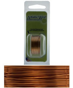 WR21420 = Artistic Wire Dispenser Pack NATURAL 20ga 6 Yards