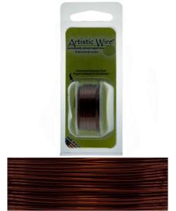 WR20524 = Artistic Wire Dispenser Pack BROWN 24ga 10 Yards