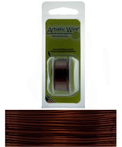 WR20520 = Artistic Wire Dispenser Pack BROWN 20ga 6 Yards