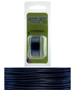 WR20322 = Artistic Wire Dispenser Pack DARK BLUE 22ga 8 Yards