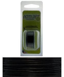 WR20224 = Artistic Wire Dispenser Pack BLACK 24ga 10 Yards