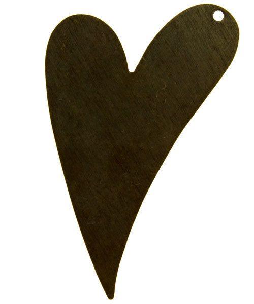 MSBV1004 = Vintaj Brass Shape -  HEART 41x24mm (Pkg of 3)