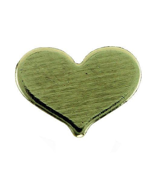 MSBR70024 = Brass Shape - Heart 5 x 7mm (Pkg of 4)