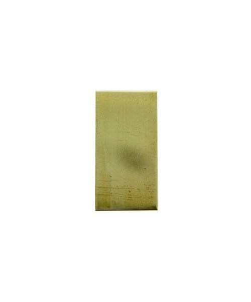 "MSBR36024 = BRASS SHAPE - RECTANGLE 1/2"" x  1""  (24ga) (Pkg of 6)"