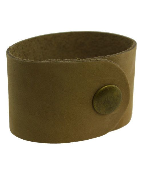 LE2021 = Leather Cuff Natural 1-1/2'' Wide with 2 Snaps