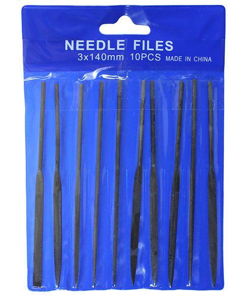 FI6004 = Economy Needle File Set - Cut 2 - 5-1/2'' (10 pcs)