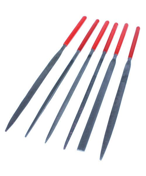 FI6003 = Economy Needle File Set with PVC Handles -  Medium cut - 5-1/2''  (6pcs)