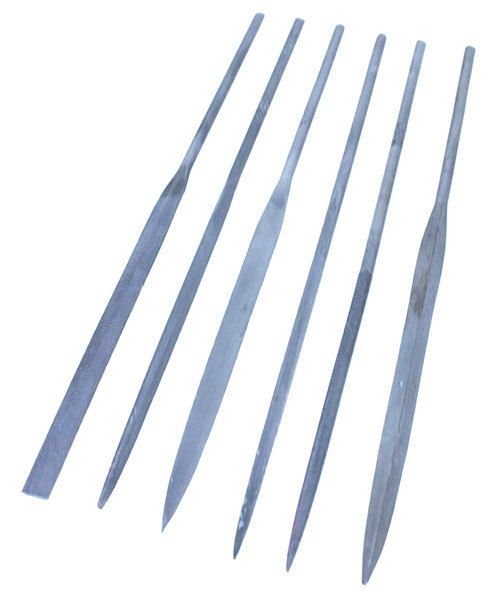FI170 = Needle File Set - Cut 2 - 5-1/2''  (6pcs)