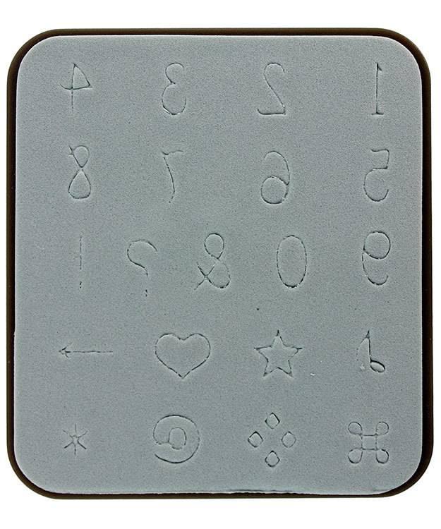 EM4085 = Sizzix Decotech Die - Handwriting Numbers by Vintaj