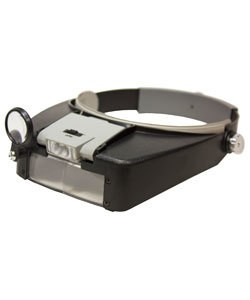 EL9950 = ECONOMY HEADBAND MAGNIFIER with DUAL LENS & LED LIGHTS