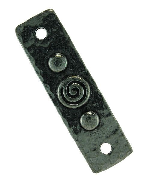 EB5110 = Bracelet Links by TierraCast 11x39.3mm Spiral & Rivets Antique Pewter Color (Pkg/2)