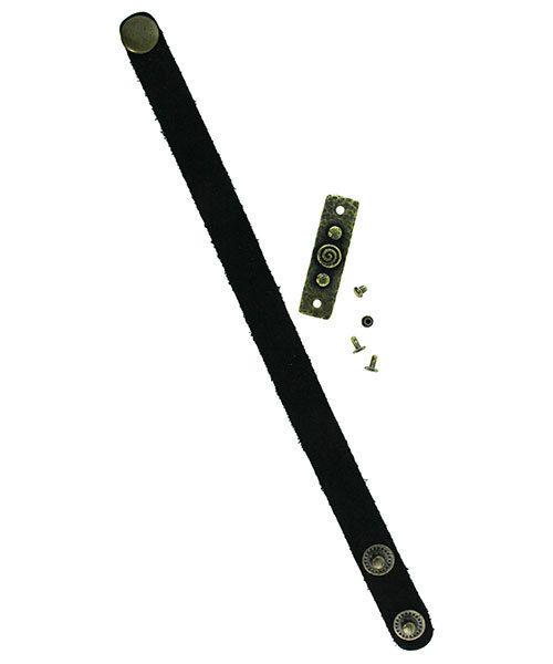 EB5100 = Bracelet Links by TierraCast 11x39.3mm Spiral & Rivets Brass Oxide Color (Pkg/2)