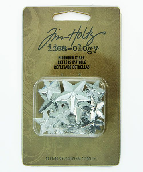 Tim Holtz Idea-ology EB2037 = Mirrored Stars by Tim Holtz (Pkg of 24)