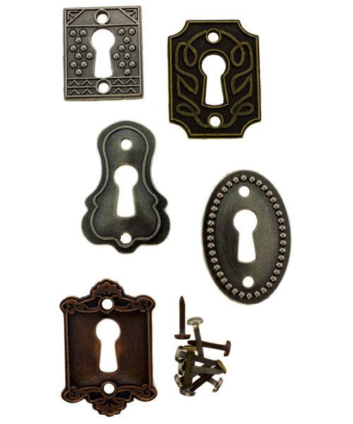 Tim Holtz Idea-ology EB2005 = Key Holes by Tim Holtz  (Pkg of 5)