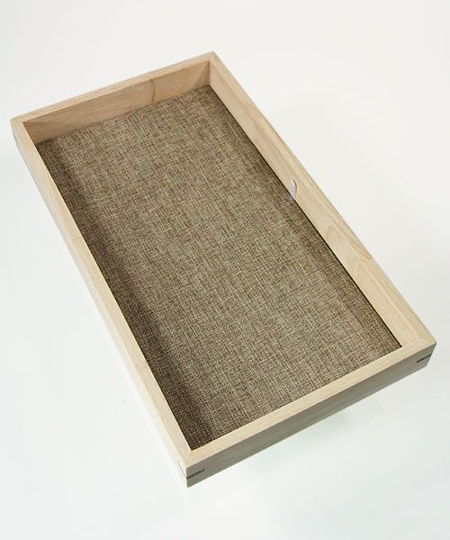 DTR2001 = Stackable Wooden Display Tray 1-1/2'' deep