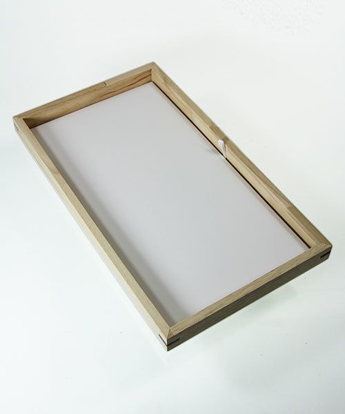 DTR2000 = Stackable Wooden Display Tray 1'' deep