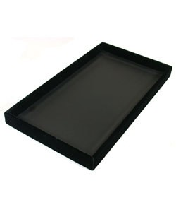 DTR1700 = TRAY VELVET  BLACK  1'' DEEP