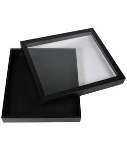 DTR1455 = HALF SIZE TRAY with CLEAR LID 1'' DEEP