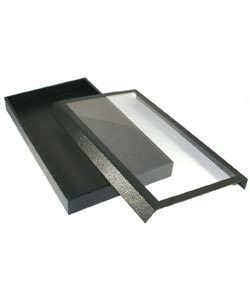 DTR1351 = TRAY with CLEAR MAGNETIC LID 1-1/2'' DEEP