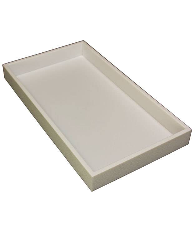 DTR1101W = TRAY STACKABLE  WHITE 1-1/2'' DEEP