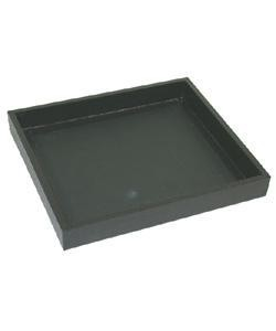 DTR1005 = TRAY WOODEN BLACK 1/2 SIZE  1'' DEEP