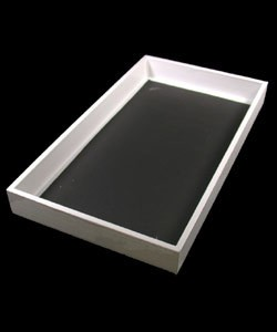 DTR1001W = TRAY WOODEN WHITE 1.5'' DEEP