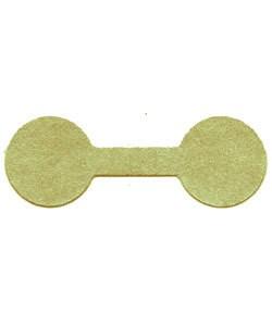 DTA7071 = Gold Tyvek Dumbbell Tags 1-3/8'' x 1/2'' (Pkg of 1000)