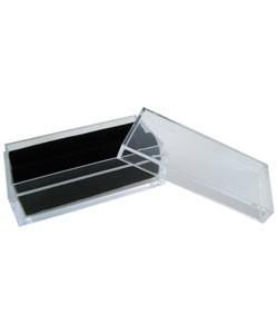 DST5007 = GEM BOX DISPLAY ACRYLIC FOAM INSERT 2''x1'' RECTANGLE BLACK (Pkg of 50)