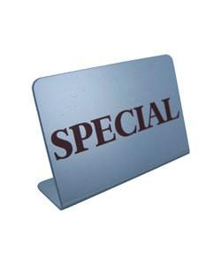 DSI5783 = Mini Metal Sign 1-3/4''x1-1/8''   ''SPECIAL''