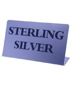 DSI5780 = Mini Metal Sign 1-3/4''x1-1/8''   ''STERLING SILVER''