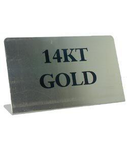 DSI5760 = Mini Metal Sign 1-3/4''x1-1/8''   ''14K GOLD''
