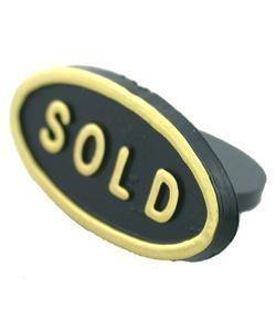 DSI5050 = SOLD INSERT for RING TRAY BLACK OVAL (Pkg of 100)