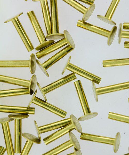 CCBR1726 = BRASS SOLID RIVETS 1.3mm x 1/4'' long (Pkg of 100)