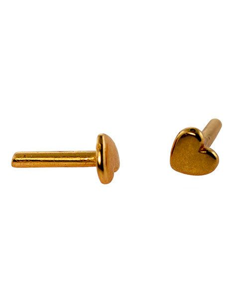 CCCP1201 = COPPER PLATED BRASS RIVET HEART (Pkg of 10)