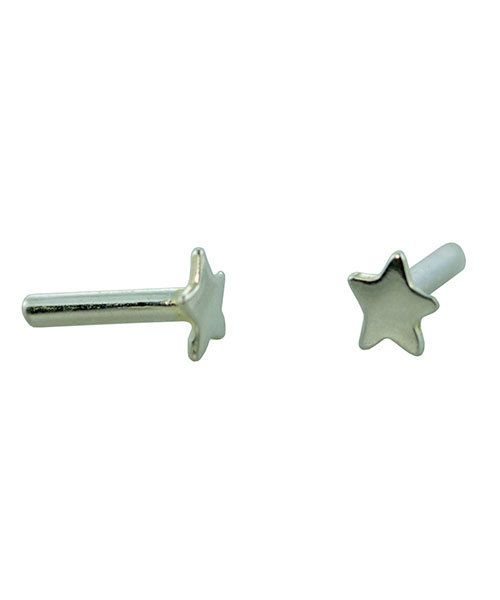 CCSP1202 = Silver Plated Brass Rivet Star (Pkg of 10pcs)