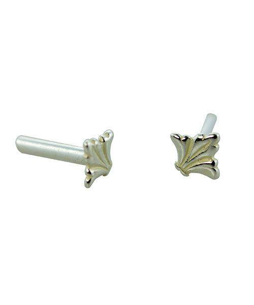 CCSP1205 = Silver Plated Brass Rivet Fleur de Lis (Pkg of 10pcs)