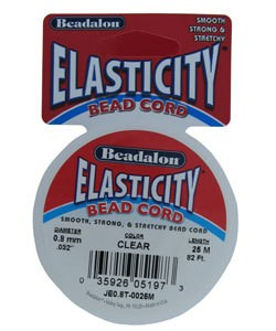 CD3043 = Elasticity by Beadalon Clear 0.8mm / 25m Spool