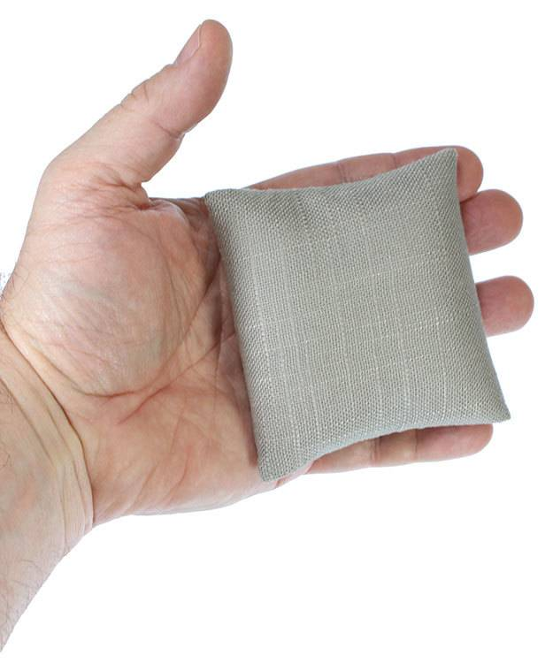 DIS7130 = Grey Linen Pillow for Watches or Bracelets 3''x3'' (Pkg of 5)