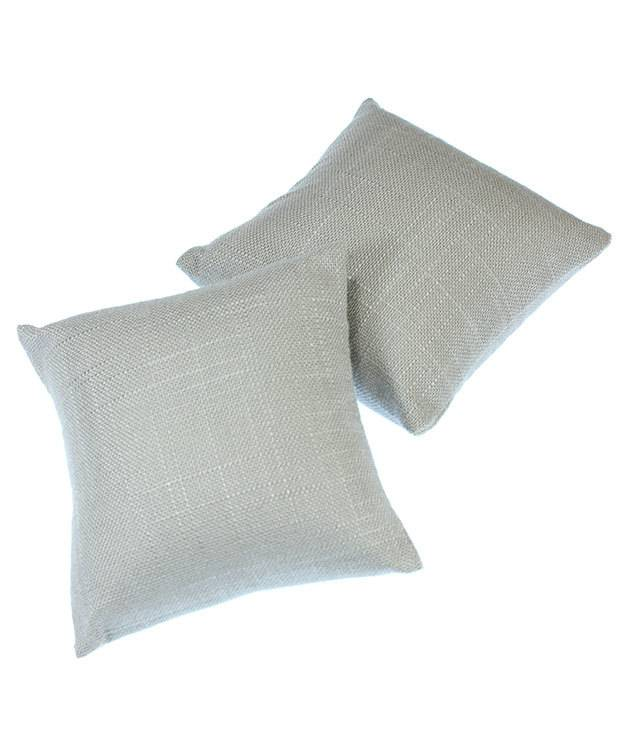 DIS7120 = Grey Linen Pillow for Watches or Bracelets 4''x4'' (Pkg of 5)