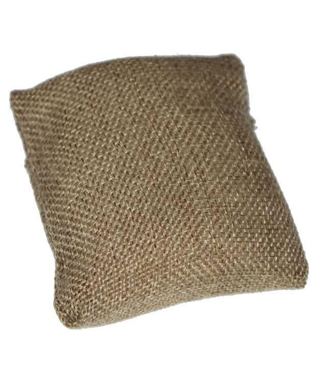 DIS3130 = Burlap Pillow for Watches or Bracelets 3''x3'' (Pkg of 5)