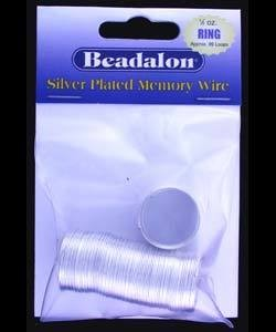 CD45001S = MEMORY WIRE RING SIZE SILVER PLATED (1/2oz Pkg)
