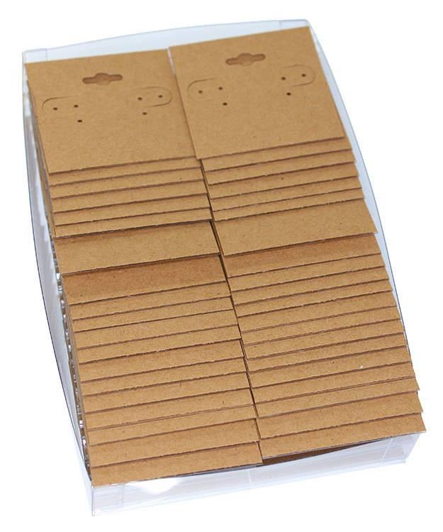 DER751 = Hanging Earring Card Kraft Paper Covered  2''  ''PLAIN'' (Pkg of 100)
