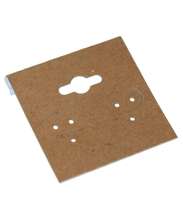 DER750 = Hanging Earring Card Kraft Paper Covered  1.5''  ''PLAIN'' (Pkg of 100)