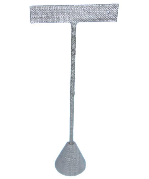 DER7255 = Grey Linen Earring Display 6-1/2'' high (Pkg of 3)