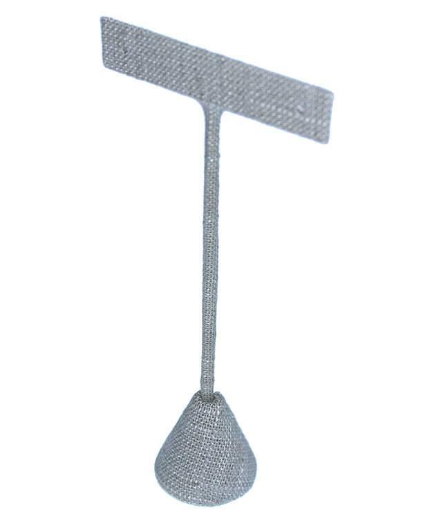 DER7254 = Grey Linen Earring Display 5-1/2'' high (Pkg of 3)