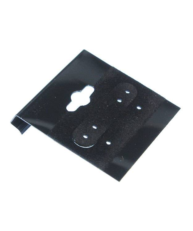 DER700 = Hanging Earring Cards Black 1-1/2'' Plain (Pkg of 100)