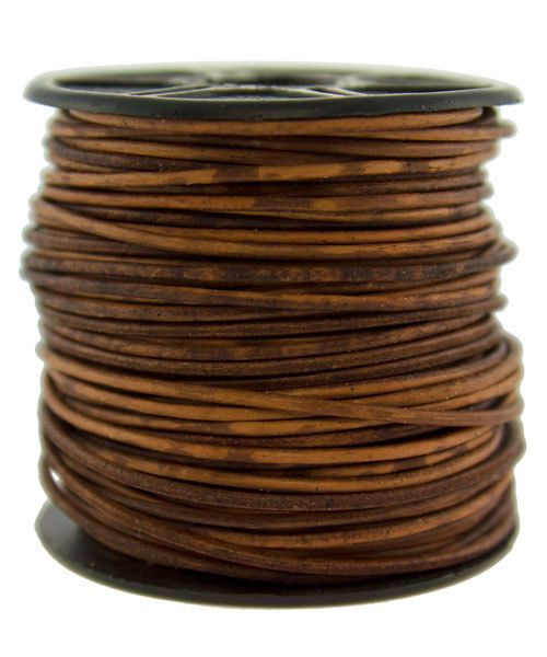 CD8500 = INDIAN LEATHER 1mm DISTRESS BROWN (Pkg of 10ft)