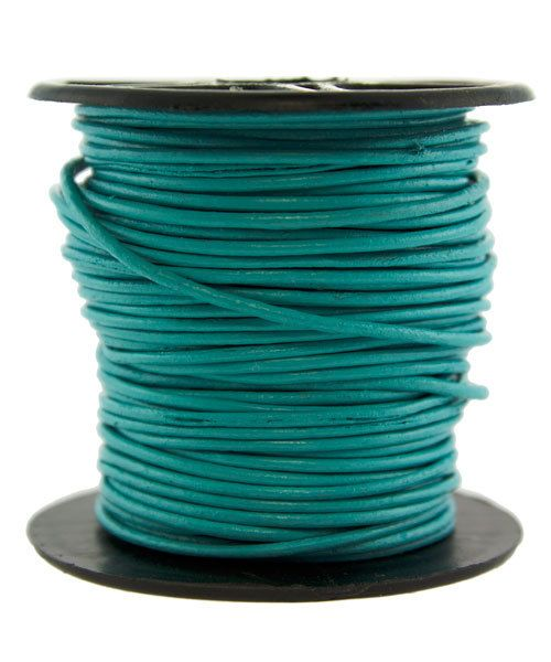 CD8501 = INDIAN LEATHER 1mm TURQUOISE (Pkg of 10ft)